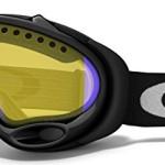 polarized ski goggles jmtd  Oakley Unisex-Adult A Frame Snow Goggles Jet Black, HI Amber Polarized