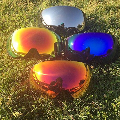 interchangeable ski goggles  OutdoorMaster Ski Goggles PRO - Frameless, Interchangeable Lens ...