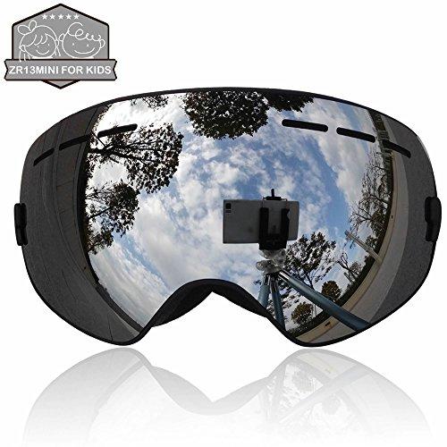 ski goggles black  ZIONOR庐 Lagopus 13Mini Kids Snowmobile Snowboard Skate Ski Goggles ...