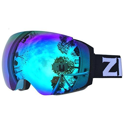 ski snowboard goggles  ZIONOR Lagopus X4 Ski Snowboard Snowmobile Goggles with Magnet ...